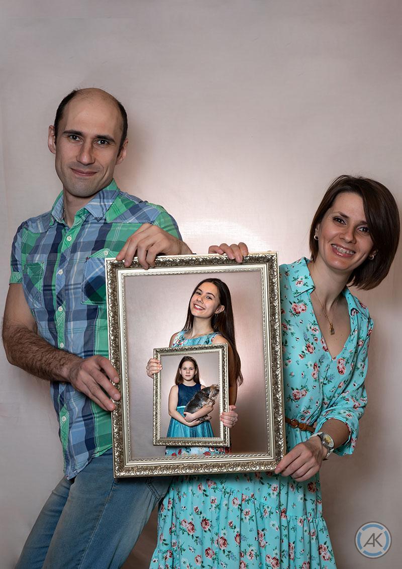 Креативная семейная фотосессия дома